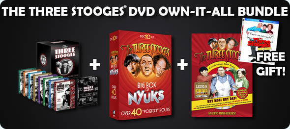 The Three Stooges DVD Own-It-All Bundle: Free Gift Included!