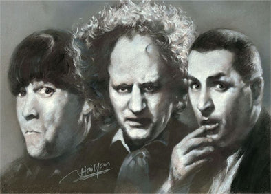 Three Stooges Magnet - Artistic Portrait