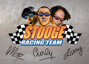 The Three Stooges Magnet: Stooge Racing - READY TO SHIP