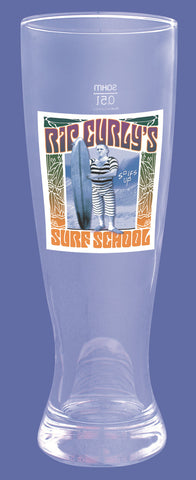 The Three Stooges Beer Pint Glass: Rip Curly Surf School - READY TO SHIP