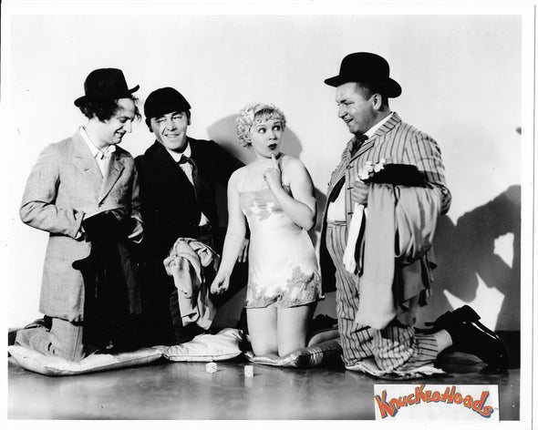 Three Stooges Shooting Dice Original Glossy Promo Photo