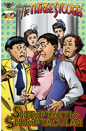 The Three Stooges Comic Book Series 9 / SHEMPTACULAR Cover 1 - MAIN COVER