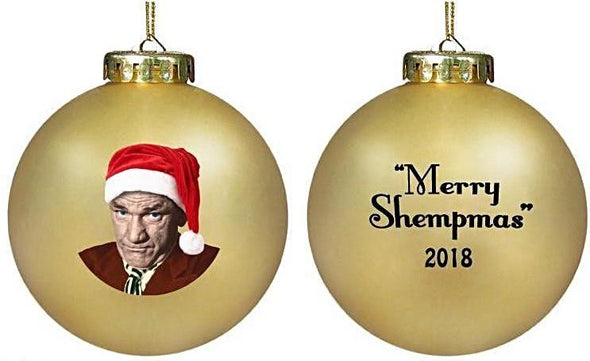 Three Stooges 2018 SHEMP LIMITED EDITION GOLD Christmas Ornament - Back Order - 12/14 Delivery