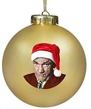 Three Stooges Shemp Gold Christmas Ornament