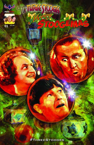 Three Stooges Comic Book Series 5 / Cover 2: Merry Stoogemas - Ornaments