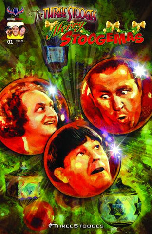 The Three Stooges Comic Book Series 5 / Cover 2: Merry Stoogemas - Ornaments - READY TO SHIP