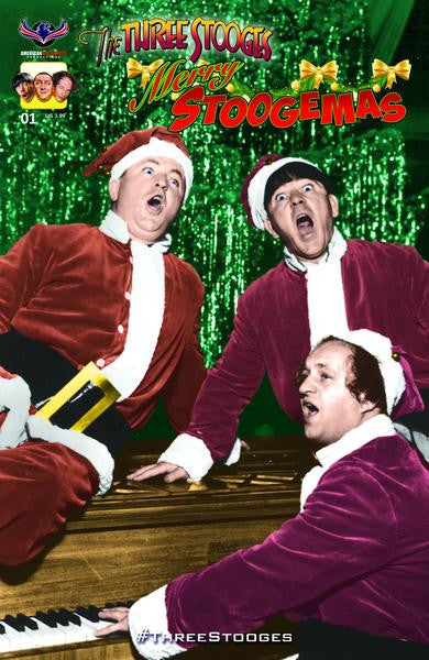 Three Stooges Comic Book Series 5 / Cover 3: Merry Stoogemas - Santas Color