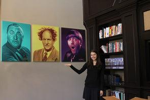 The Three Stooges Canvas Art (36in X 29in) - AVAILABLE TO SHIP AFTER 1 BUSINESS DAY PROCESSING TIME