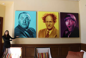 The Three Stooges Canvas Art (60in X 48in) - Free Shipping!