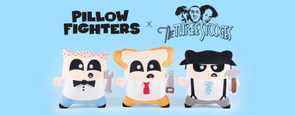 The Three Stooges Pillow Fightersâ® - Set Of 3 - Ready To Ship