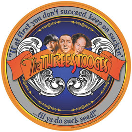 The Three Stooges Round Tin Sign: Succeed - READY TO SHIP