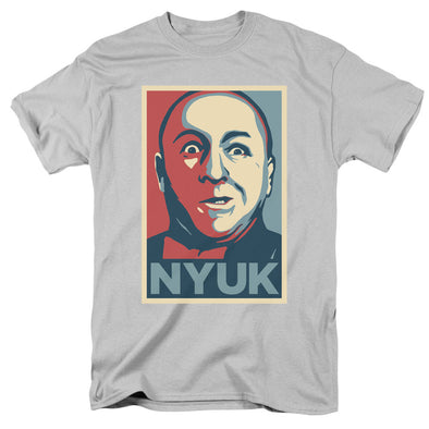 THREE STOOGES / CURLY NYUK - S/S ADULT 18/1 - SILVER
