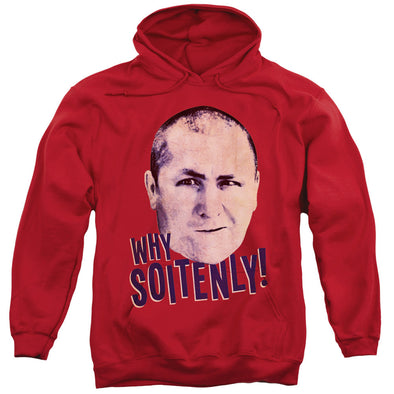 THREE STOOGES/WHY SOITENLY-ADULT PULL-OVER HOODIE-RED