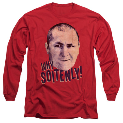 THREE STOOGES/WHY SOITENLY - L/S ADULT 18/1 - RED
