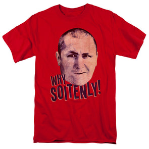 THREE STOOGES/WHY SOITENLY - S/S ADULT 18/1 - RED