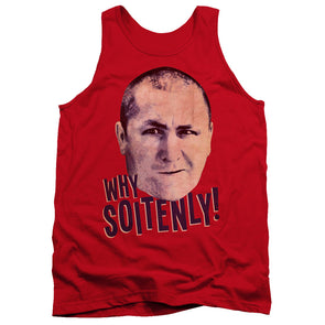 THREE STOOGES/WHY SOITENLY - ADULT TANK - RED