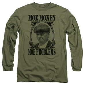 The Three Stooges Long Sleeve Shirt: Moe Money - Military Green