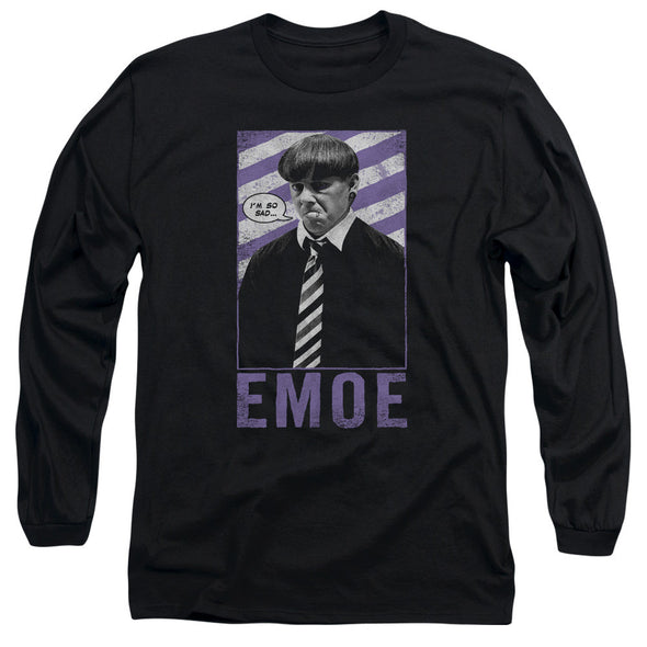 THREE STOOGES/EMOE - L/S ADULT 18/1 - BLACK