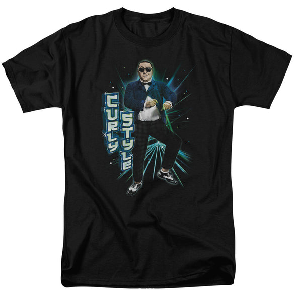 THREE STOOGES/CURLY STYLE - S/S ADULT 18/1 - BLACK