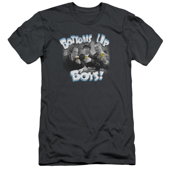 THREE STOOGES/BOTTOMS UP - S/S ADULT 30/1 - CHARCOAL