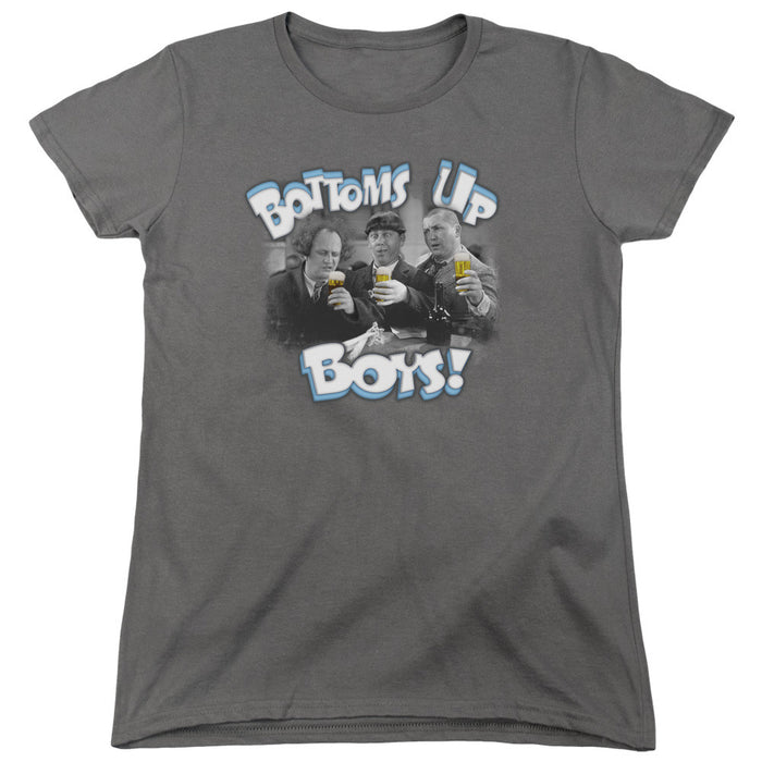 Three Stooges Bottoms Up - Women'S Short Sleeve