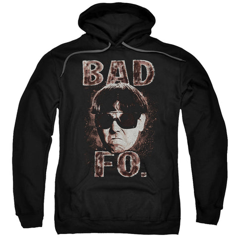 THREE STOOGES/BAD MOE FO-ADULT PULL-OVER HOODIE-BLACK