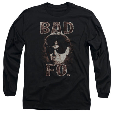 THREE STOOGES/BAD MOE FO - L/S ADULT 18/1 - BLACK
