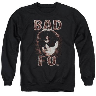 THREE STOOGES/BAD MOE FO - ADULT CREWNECK SWEATSHIRT - BLACK