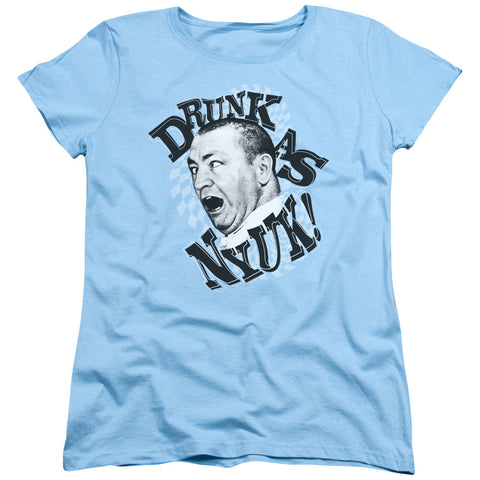 THREE STOOGES/DRUNK - S/S WOMEN'S TEE - LIGHT BLUE