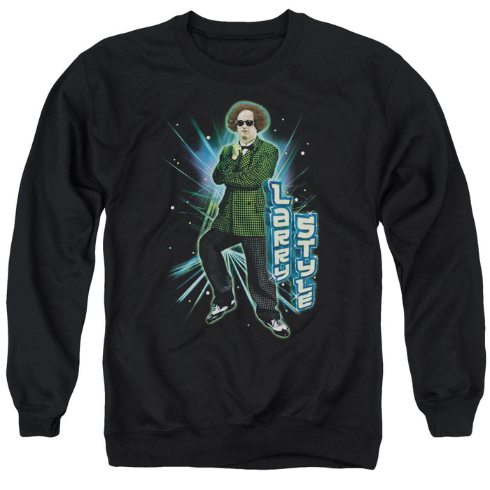 Three Stooges/Larry Style - Adult Crewneck Sweatshirt - Black