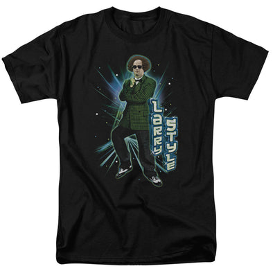 THREE STOOGES/LARRY STYLE - S/S ADULT 18/1 - BLACK