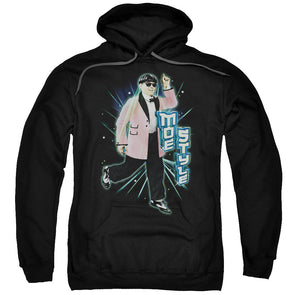 THREE STOOGES/MOE STYLE-ADULT PULL-OVER HOODIE-BLACK