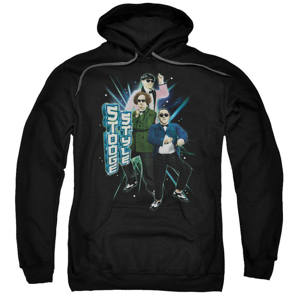THREE STOOGES/STOOGE STYLE-ADULT PULL-OVER HOODIE-BLACK