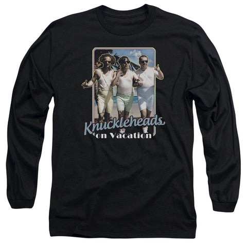 THREE STOOGES/KNUCKLESHEADS ON VACATION - L/S ADULT 18/1 - BLACK