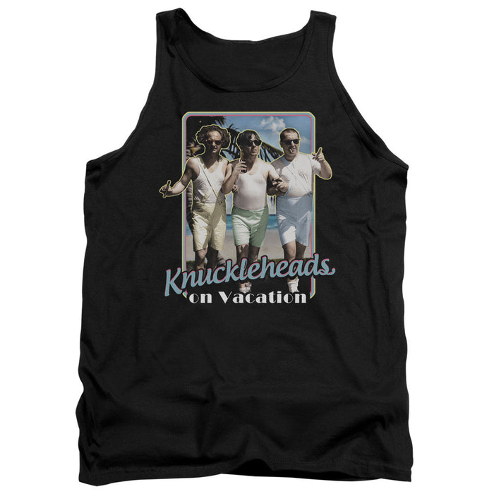 Three Stooges/Knucklesheads On Vacation - Adult Tank - Black