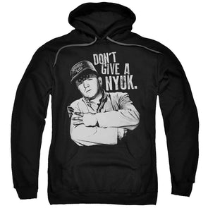 THREE STOOGES/GIVE A NYUK-ADULT PULL-OVER HOODIE-BLACK