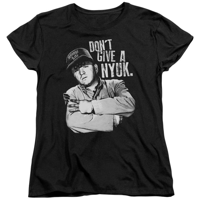 Three Stooges/Give A Nyuk - S/S Women'S Tee - Black