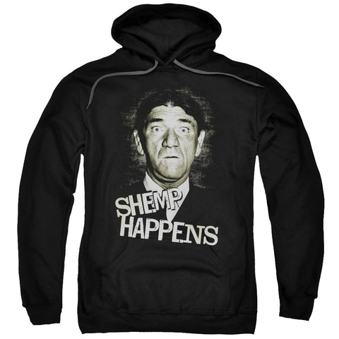 THREE STOOGES/SHEMP HAPPENS-ADULT PULL-OVER HOODIE-BLACK - Allow 3-5 business days processing time