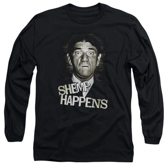THREE STOOGES/SHEMP HAPPENS - L/S ADULT 18/1 - BLACK - Allow 3-5 business days processing time