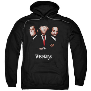 THREE STOOGES/WISEGUYS-ADULT PULL-OVER HOODIE-BLACK