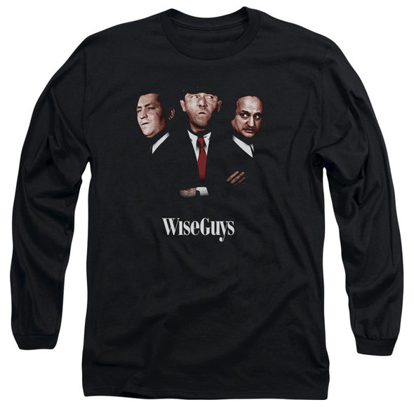THREE STOOGES/WISEGUYS - L/S ADULT 18/1 - BLACK