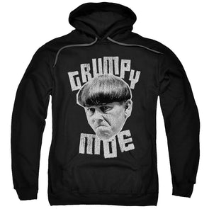 THREE STOOGES/GRUMPY MOE-ADULT PULL-OVER HOODIE-BLACK