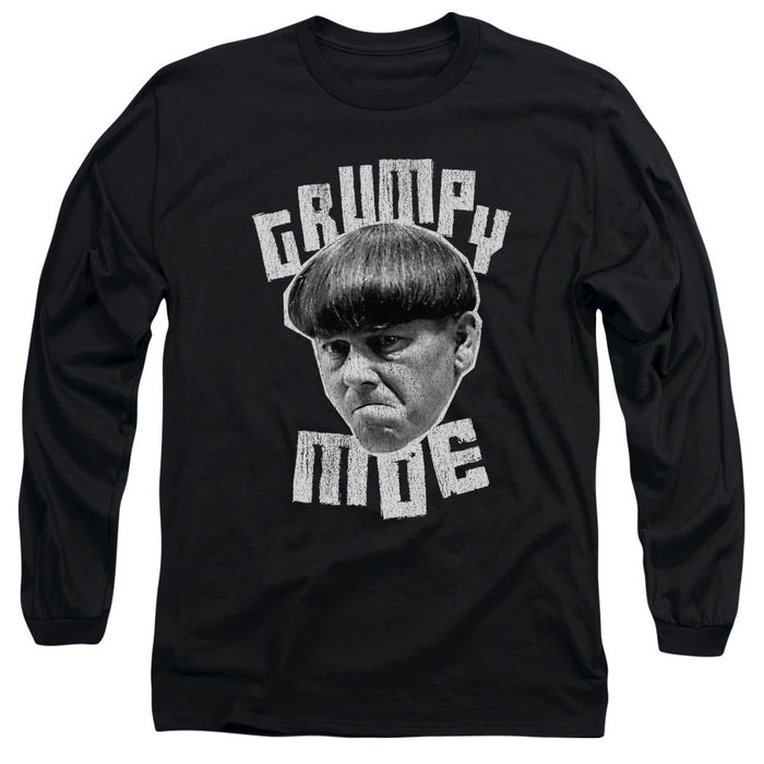 Three Stooges/Grumpy Moe - L/S Adult 18/1 - Black