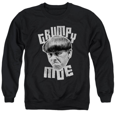 Three Stooges/Grumpy Moe - Adult Crewneck Sweatshirt - Black