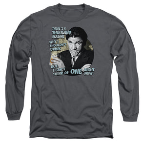 THREE STOOGES/DRINK - L/S ADULT 18/1 - CHARCOAL