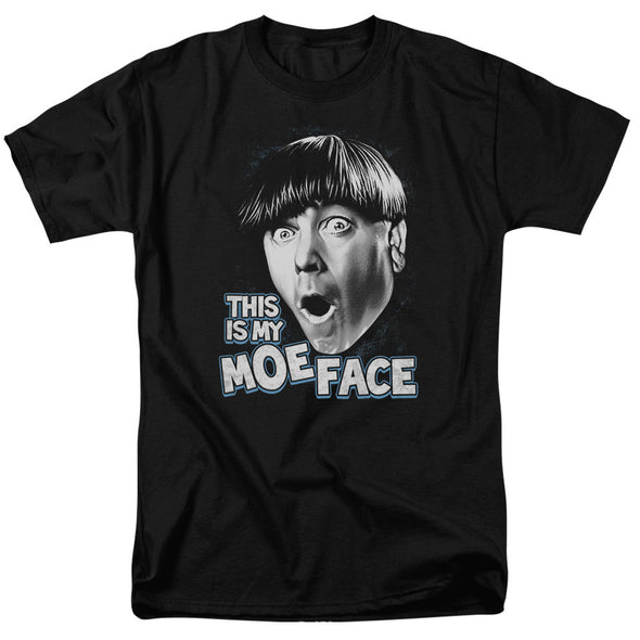 THREE STOOGES/MOE FACE - S/S ADULT 18/1 - BLACK