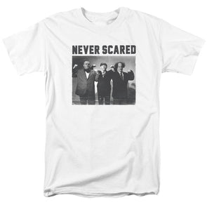 THREE STOOGES/NEVER SCARED - S/S ADULT 18/1 - WHITE