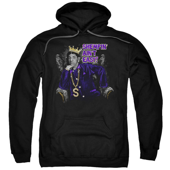 THREE STOOGES/SHEMPIN-ADULT PULL-OVER HOODIE-BLACK - Allow 3-5 business days processing time