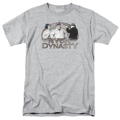 THREE STOOGES/NYUK DYNASTY - S/S ADULT 18/1 - HEATHER