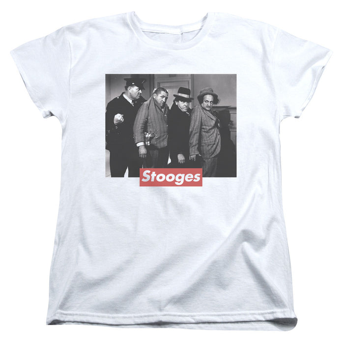 Three Stooges/Supreme Rip-S/S Women'S Tee-White